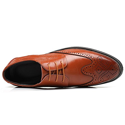 Leather Up Wingtip Formal Captoe Mens Oxfords Modern YING Prince Brown Classic Lace LAN Dress Shoes Cqn7g