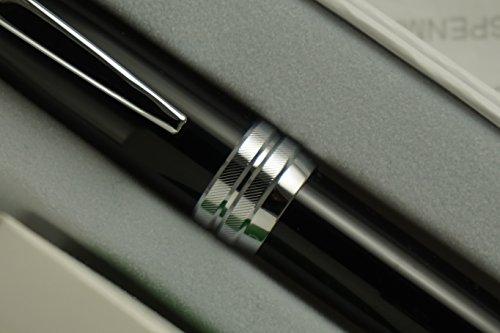 Cross Executive Companion Bailey Black Lacquer with Diamond Cut Multi-groove Cross Signature Center Ring and Medium nib Fountain - Life Fountain Pen