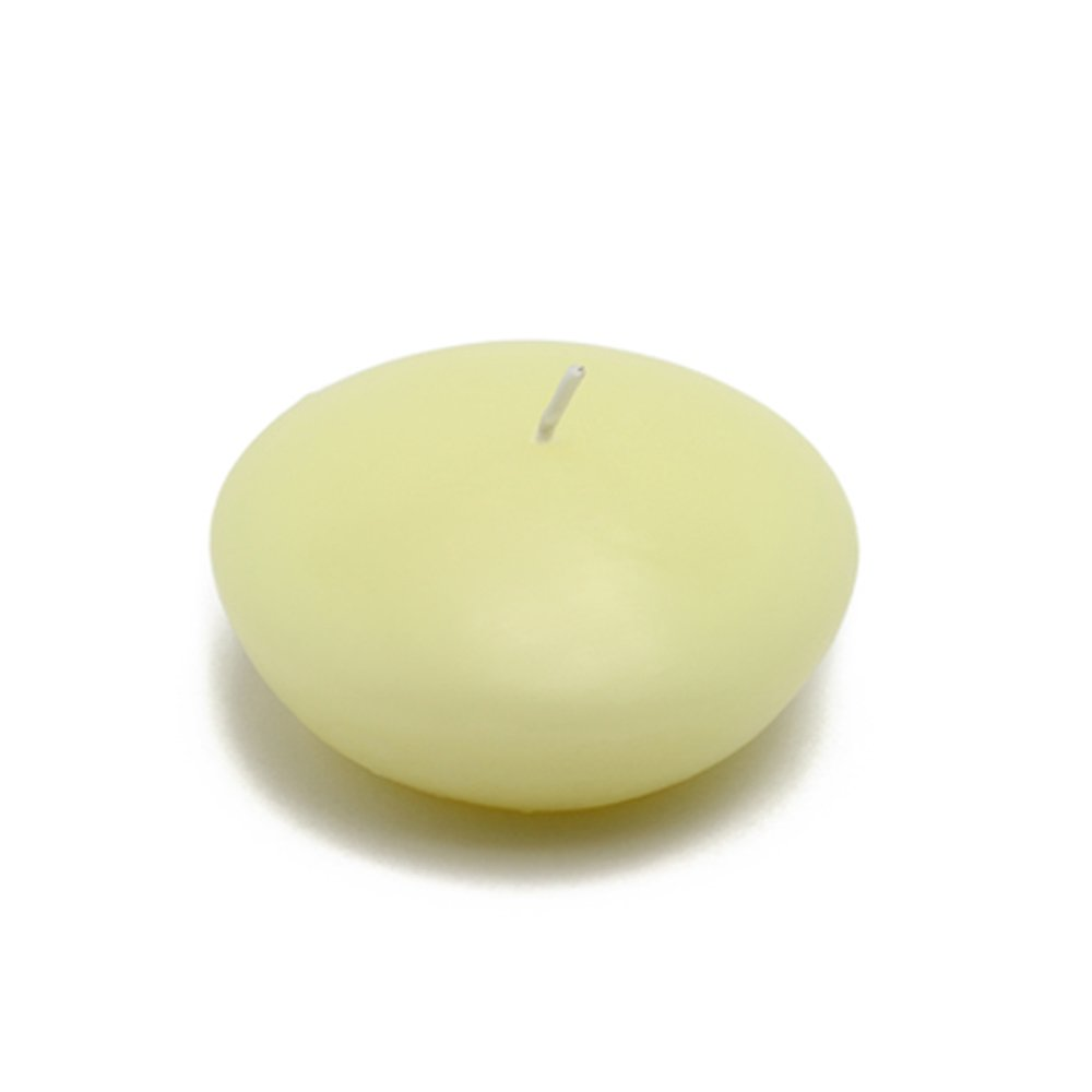 Zest Candle CFZ-046_12 144-Piece Floating Candle, 3'', Ivory by Zest Candle