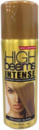 High Beams Intense Temporary Spray On Hair Color - #53 Honey Blonde 2.7 oz. (Pack of - Spray Hair Blonde Honey