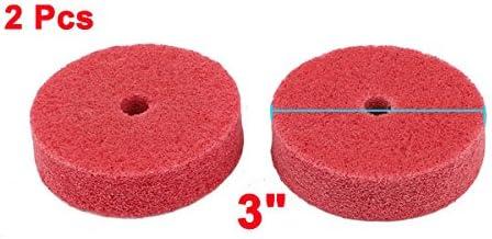 75 millimetri x 20mm in nylon rosso abrasivo di lucidatura ruote lucidatura 2 pezzi Sourcingmap
