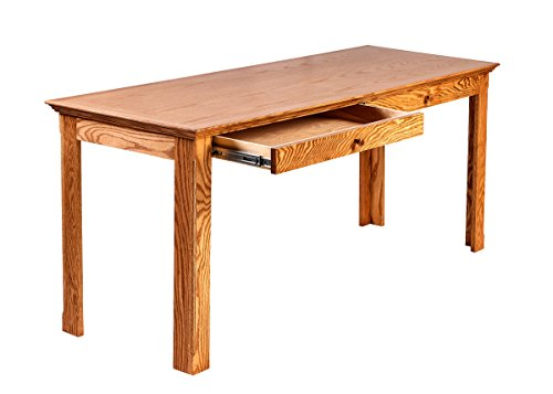 Forest Designs Traditional Oak Writing Table w/Drawers: 48W x 30H x 24D 48w Golden Oak by Forest Designs