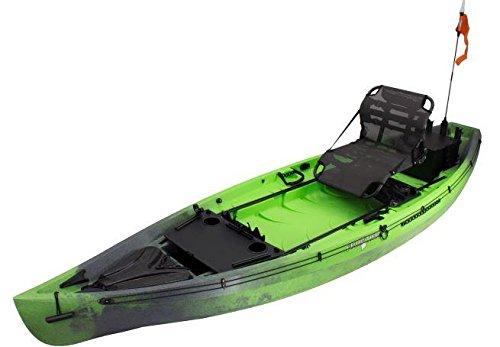 NuCanoe Frontier 12 Kayak w/ 360 Pinnacle Seat, Pro Angler Package, 260cm-280cm FG Paddle, Railblaza C-Tug, 2 Zooka Tube ZT-004 Rod Holders. Free Vamo Tie Downs and Vamo Rack Pads