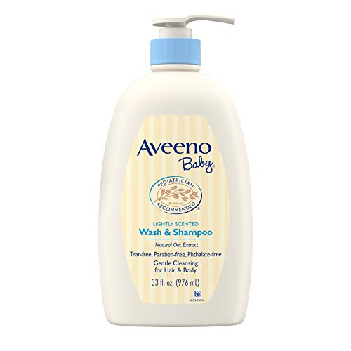 Aveeno Baby Aveeno Baby Gentle Wash & Shampoo with Natural Oat Extract, Tear-Free &, Lightly Scented, 33 Fl. Oz, 33 Fluid Ounce