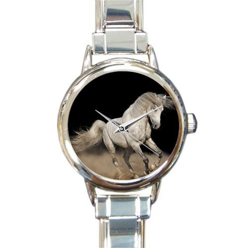 Personalized Watch Cool White Horse Round Italian Charm stainless steel Watch