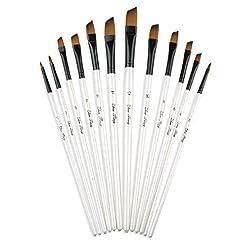 Angular Paint Brush, CBTONE 12pcs Nylon ...
