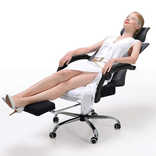 Hbada Ergonomic Office Recliner Chair - High-Back Desk Chair Racing Style with Lumbar Support - Height Adjustable Seat
