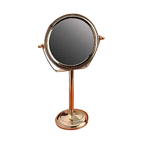 Mirrors Bright Brass Swivel Mirror Maginified Dbl-sided 14'' H by Renovator's Supply