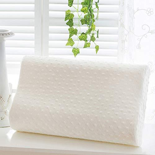 lightclub Health Care Slow Rebound Memory Foam Neck Rest Orthopedic Soft Comfort Pillow White ()