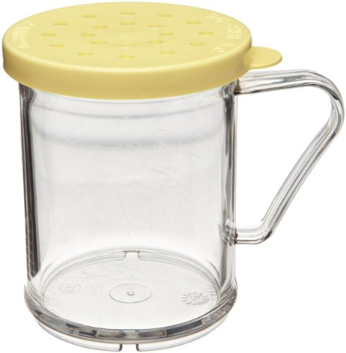 - Cambro 96SKRC 10 oz Capacity, Camwear Polycarbonate Shaker/Dredge with Yellow Cheese Lid