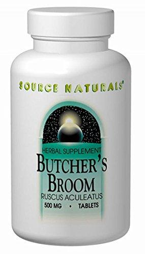 - SOURCE NATURALS Butcher's Broom 500mg, 100 CT