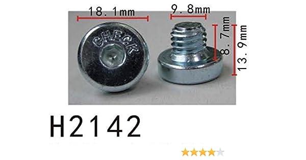 Retenedor de perno de drenaje de la caja de engranajes (M10) (modelo PF-H2142) (Paquete de 10): Amazon.es: Coche y moto