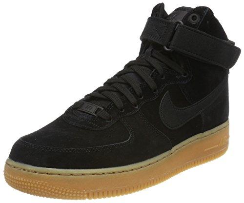 NIKE Mens Air Force 1 High 07 Lv8 Suede Basketball Shoe Black/Black Gum Med Brown
