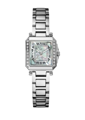 Guess Collection A51103L1 Women's Stainless Steel 20 Diamond Mother of Pearl Watch