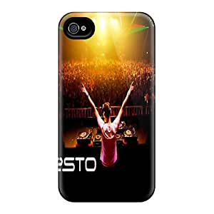 Shock Absorbent Hard Phone Case For Iphone 4/4s With Allow Personal Design Nice Tiesto Skin Marycase88