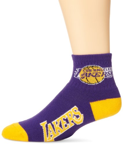NBA Los Angeles Lakers Men's Team Quarter Socks, Large (La Lakers Socks)