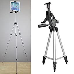 ChargerCity XL-52 inch Smartphone & Tablet Holder Selfie Photo Booth Camera Tripod Kit w/360° Rotation for Apple iPad Pro Air Mini iPhone 7 Plus 6s MicroSoft Surface Samsung Galaxy Tab S7 Edge LG V20