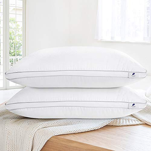 (viewstar Queen Pillows for Sleeping, Bed Pillows 2 Pack Hotel Quality Pillow, Down Alternative Hypoallergenic Pillows for Side Back Sleepers, Soft and Supportive Gusseted Pillow (20x30))