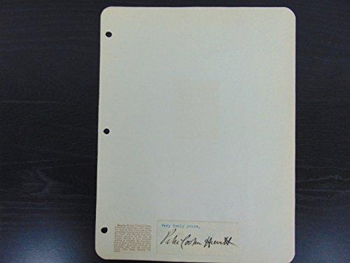 """Mercury-Vapor lamp Inventor"" Peter Cooper Hewitt Signed ""Cut"" Signature Mueller from Unknown"