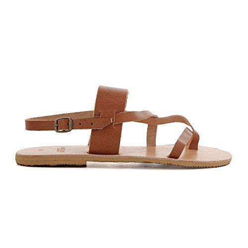 Macthalia Mujer Zapatos De Correa Con Tobillo Marrón UUfHPqw4x