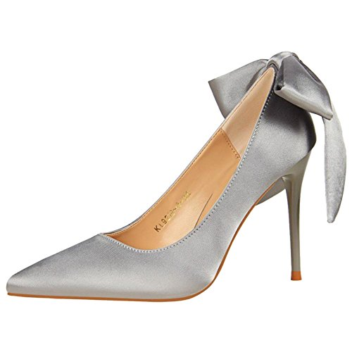 Fashion AicciAizzi Gray Pumps Thin Women Pointy Heel vwwF0q