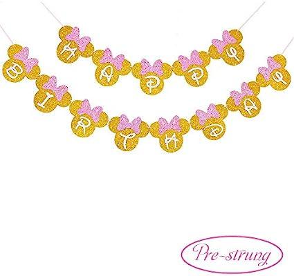 Amazon.com: Pancarta de cumpleaños para niñas, diseño de ...