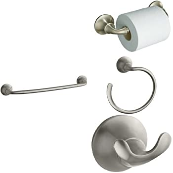 KOHLER Forte Piece Bath Accessory Set With In Towel Bar - Kohler forte bathroom accessories
