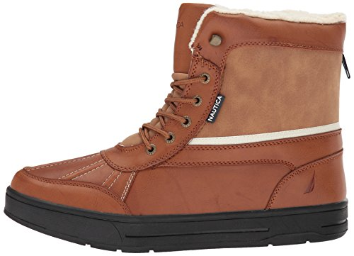 Nautica Men's Lockview Ankle Boot, tan Smooth, 10 M US