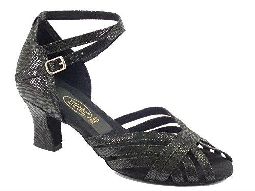 Latino de chaussures danse Noir Noir satin pour femme 50E Americain talon qEfrE