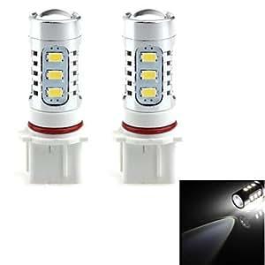 HJ P13W 16W 1400LM 6000–6500K 14* LED Lámpara para Auto Faros de Niebla de Luz Blanca (12–24V, 2unidades)