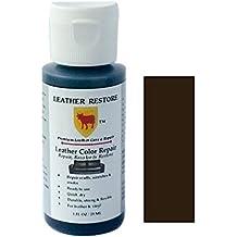 Leather Restore Leather Color Repair, ESPRESSO VERY DARK BROWN, 1 OZ Bottle - Repair, Recolor & Restore Leather & Vinyl Couch, Furniture, Auto Interior, Couch, Car Seats, Sofa
