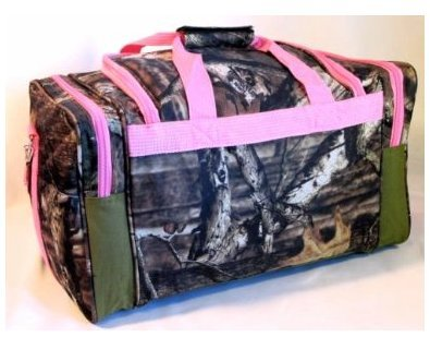 Explorer-Tactical-Pink-Mossy-Oak-Camouflage-Sport-Duffle-Luggage-Bag-20-Inch
