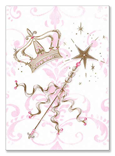 (Oopsy Daisy Fine Art for Kids Little Princess Tiara and Wand Canvas Wall Art by Kris Langenberg, 10 x 14