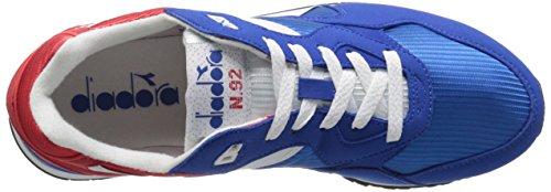 Diadora Uomo N-92 Scarpe Da Skate Rosso Papavero / Blu Imperiale