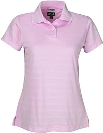 Adidas Ladies ClimaCool Mesh Solid Textured Polo - Bubble - XL
