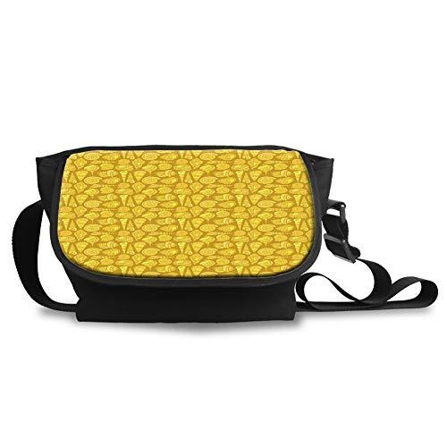 Unisex Casual and Popular Sling Bag Crossbody Bag Shoulder Bag,Stylized Ornamental Illustration of Long Tail Cabrits Murex