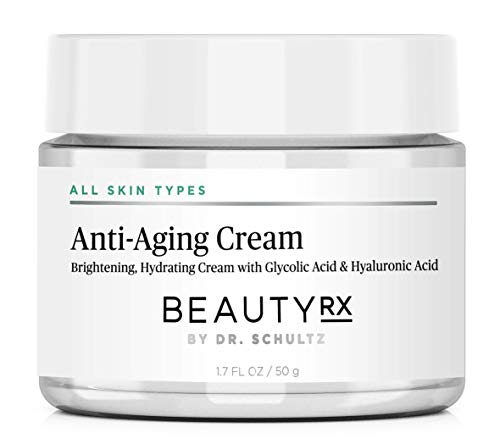414t8EdU 0L - BeautyRx by Dr. Schultz Premium Anti Aging Face Cream for Fine Lines, Wrinkles & Dark Spots with 5% Glycolic & Hyaluronic Acid. Best Brightening Facial Night Moisturizer for Women & Men 1.7 oz