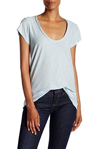 - James Perse Deep V-Neck Tee T-Shirt Top WSVH312CU. Lucite/Blue, 3/L