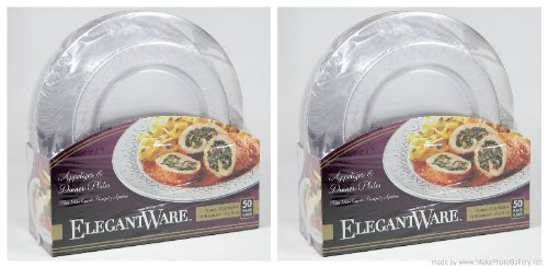 Elegant-ware Disposable Dinner and Appetizer Plates- (100 Plates) by Hefty