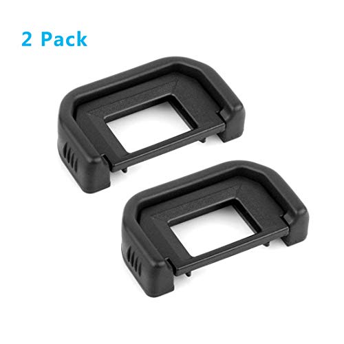HomyWord (2 PACK) Eyecup Eyepiece/Eye cup/Viewfinder (Canon EF Replacement) For Canon Rebel (T6i, T6S, T5i T4i T3i T3 T2i T1i XTi XSi XS), CANON EOS 1100D, 600D, 650D, 550D, 500D, 450D, 400D, 350D