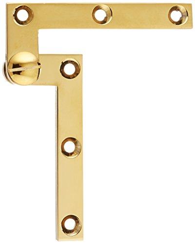 Deltana PH60CR003 Solid Brass 4 3/8-Inch x 5/8-Inch x 3/8-Inch Pivot Hinge (Polished Brass Pivot)