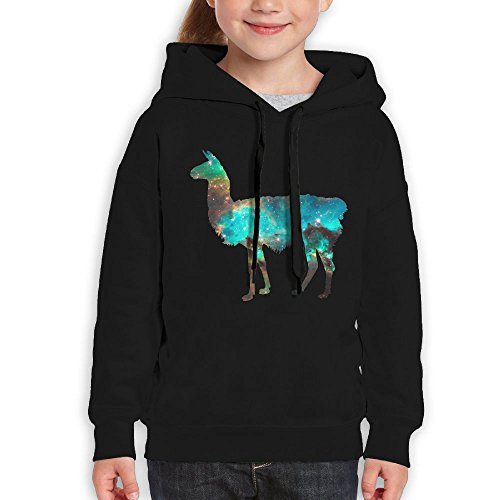 Galaxy Llama Funny Print Teen Boys And Girls Pullover Hoodie Sweatshirt Outfit Clothing Gift (Tumblr Diy Christmas)
