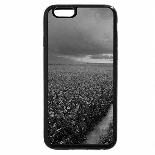 iPhone 6S Case, iPhone 6 Case (Black & White) - rainbow over wonderful yellow fields