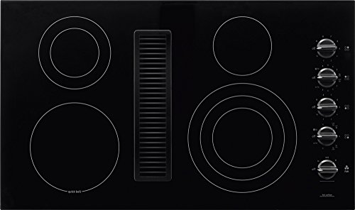 """Frigidaire RC36DE60PB 36"""" Electric Built In Downdraft Cooktop With Downdraft System SpaceWise Expandable Elements PowerPlus Boil Hot Surface Indicators:"""