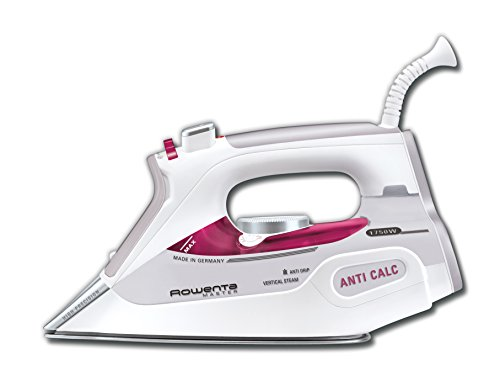 Rowenta DW9150 Master Steam Iron Auto Shut Off with Stainless Steel Soleplate, 1750-Watt, Pink