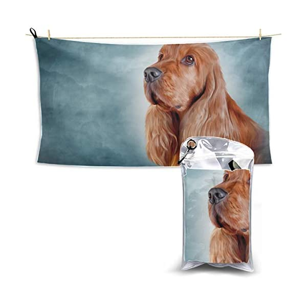 Drawing Dog English Cocker Spaniel Portrait Cat Beach Towel For Girls Beach Towels Quick Dry Camping Towel Quick Dry Towel Beach Travel 27.5'' X 51''(70 X 130cm)best For Gym Travel Camp Yoga Fitnes 1