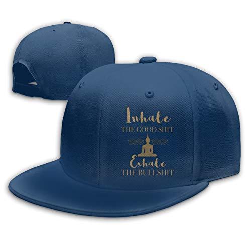 Nutmix Buddha Yoga Inhale The Good Sh Exhale Unisex Fashion Adjustable Baseball Hats Navy ()