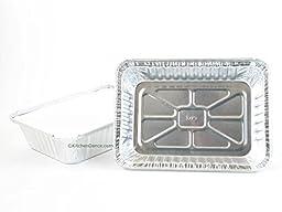 Disposable Aluminum 2 1/4 Lb. Oblong Pan with Board Lid #250L (25)