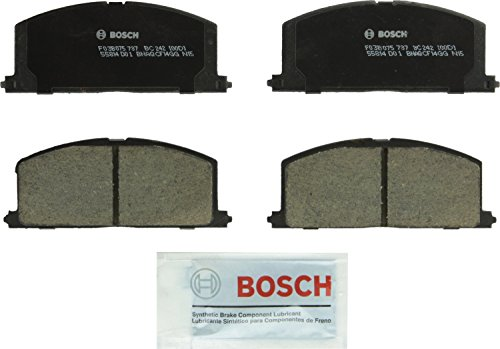Bosch BC242 QuietCast Premium Ceramic Disc Brake Pad Set For Select Chevrolet Nova; Geo Prizm; Toyota Camry, Celica, Corolla, MR2, Paseo, Tercel; Front