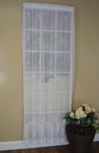 Curtain Chic Cameo Rose Panel, 84-Inch, Ivory